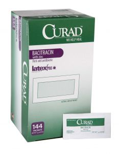 Medline From: CUR001109Z To: CUR001231H - Curad Bacitracin Ointment CURAD Triple Antibiotic Ointment, 0.9 G