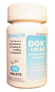 Major Pharmaceuticals - 700208 - 700401 - Fecal Incontinence-Laxative 100s, Compare To Colace
